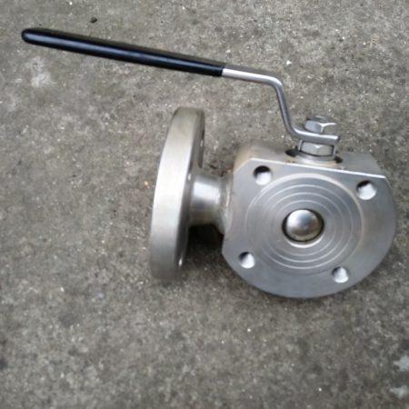 3 utas karimás kompakt gömbcsap AISI316 L-forgós