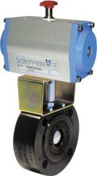 MOON szénacél gömbcsap DN50 PN40 kettős működt. pneumatikus hajtással